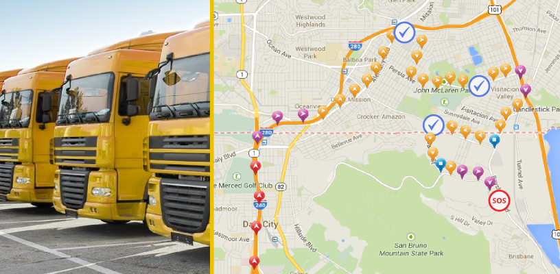 fleet management with evertrack gps tracker app