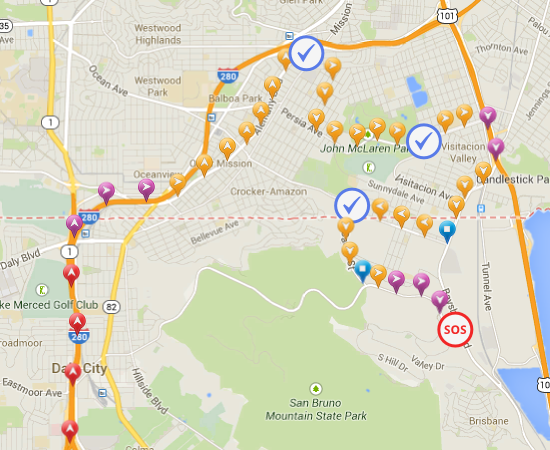 Real-Time locations reports with mobile app