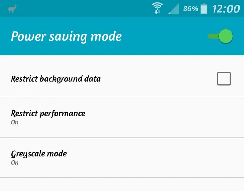 Disable power saving mode