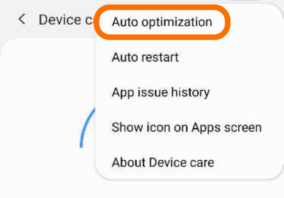 "Select ""Auto optimization"""