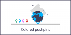 Unveil the secret – Coloured pushpins image
