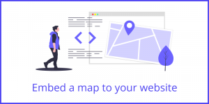 Embed a map to your website image